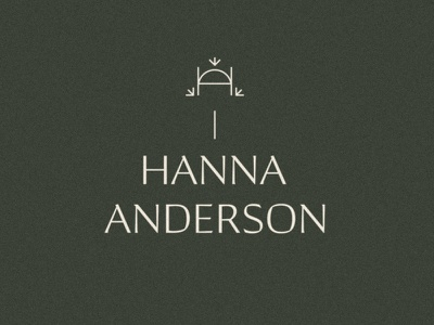 Unused Logo for Hanna Anderson green logo logodesign typography type vintage green olive media social marketing tones earth design logo