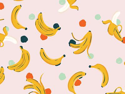 Banana Seamless Pattern circles dots dot polka pattern seamless fruit banana