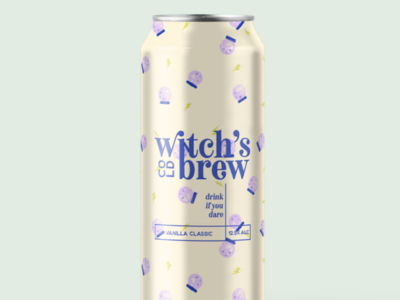 Witch's Brew - WIP work in progress wip pattern lightning witch magic crystal ball alcohol coffee packaging brew cold