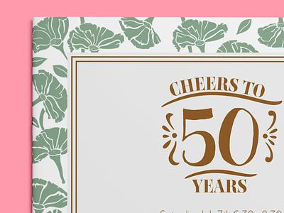Invitations botanical pattern party garden flower summer invitations wedding anniversary