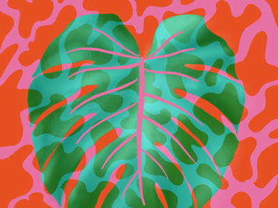 Lava lamp monstera pattern retro plants procreate leaf monstera plant lamp lava funky illustration