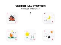 Chinese style Qixi vector illustration