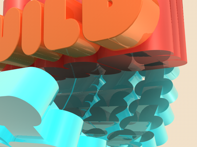 3D Text Fun 3d text cinema4d fun orange red blue reflection colors type light