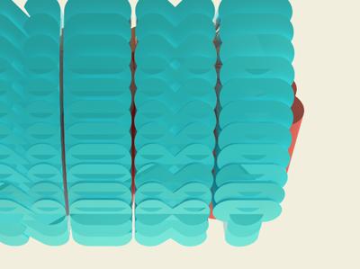 More 3D Text 3d text type cinema4d c4d render next blue glass reflection clone fun
