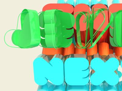 3D Text Spin 3d text type green blue spin red orange cinema4d c4d render fun next level
