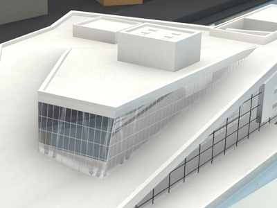 Oslo's Opera House 2 3d opera oslo norway render glass reflection c4d cinema4d architecture house white grey