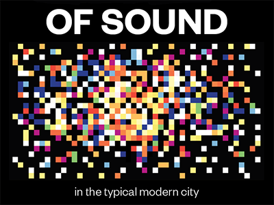 Book Project book cover pixels sound modern city scifi abstract type