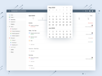 Todoist Upcoming View - Web schedule calendar planning ui todoist todo task manager task project real live feature app