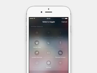 iOS 10 - Advanced Control Center Video toggles control center ios 10 ios apple