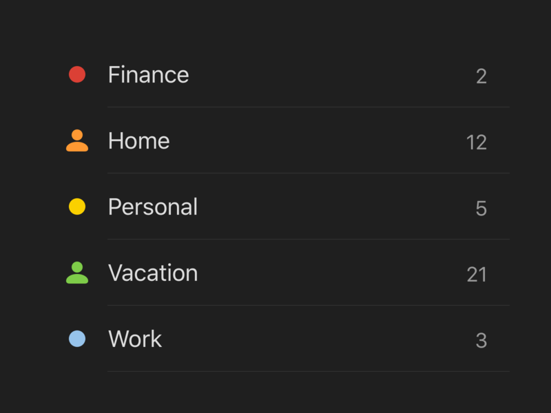 Todoist Dark Theme Colors palette color ui todoist todo task manager task project real live feature app