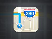iOS 6 Maps Icon Recreation