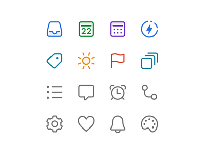 Todoist Foundations – New Icons web project real live app icon todoist task management todo productivity