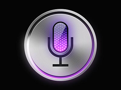Siri Recreation (Final) with PSD microphone iphone 4s ipad mini pink photoshop psd iphone 5 iphone voice ai free silver button ipad siri icon apple ios ios6