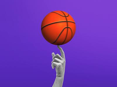 Basketball tricks! 🏀 spacejam jordan nba spin orange purple statue sport ball basketball playground instagram aftereffect photoshop postproduction illustration digital creativity artist art