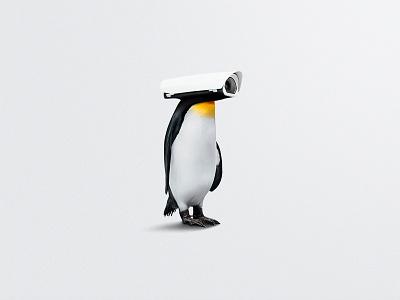 Penguinator! 🐧 emperor antarctica arctic sadness yellow white black security penguin animal playground instagram aftereffect photoshop postproduction illustration digital creativity artist art