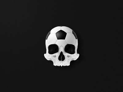 Skull ball! ⚽ head mind ball death white black dark football skeleton skull playground instagram aftereffect photoshop postproduction illustration digital creativity artist art