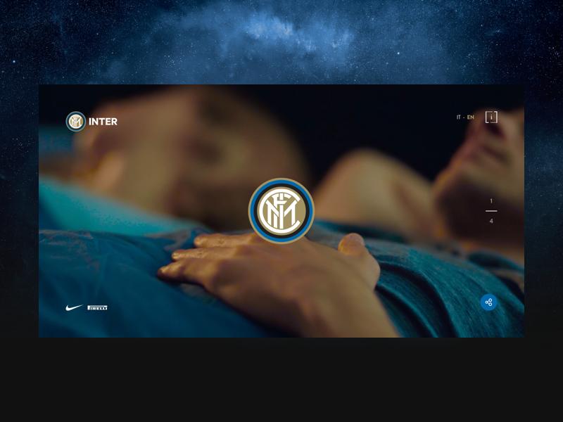 Inter - Stars Of San Siro ux ui website design bed stars night milan soccer inter