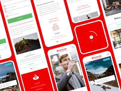 Santander Consumer Bank santander bank red website digital ux ui corporate light experience
