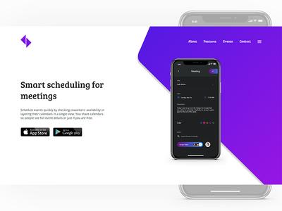 Meetings App Landing Page Header