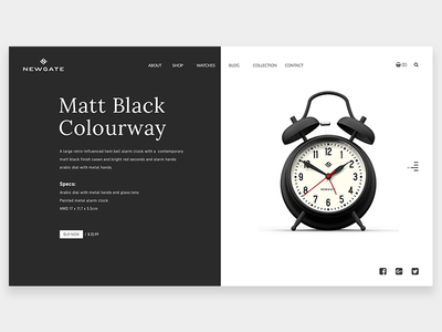 NewGate Product Page ReDesign typography website web simple product design white black flat minimal ux ui