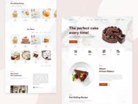 Bakery Landing Page Design Concept
