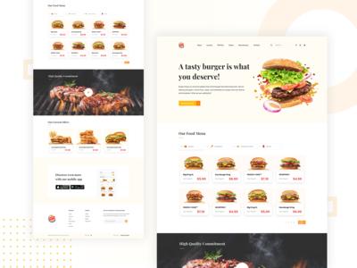 Burger King Website Redesign Concept