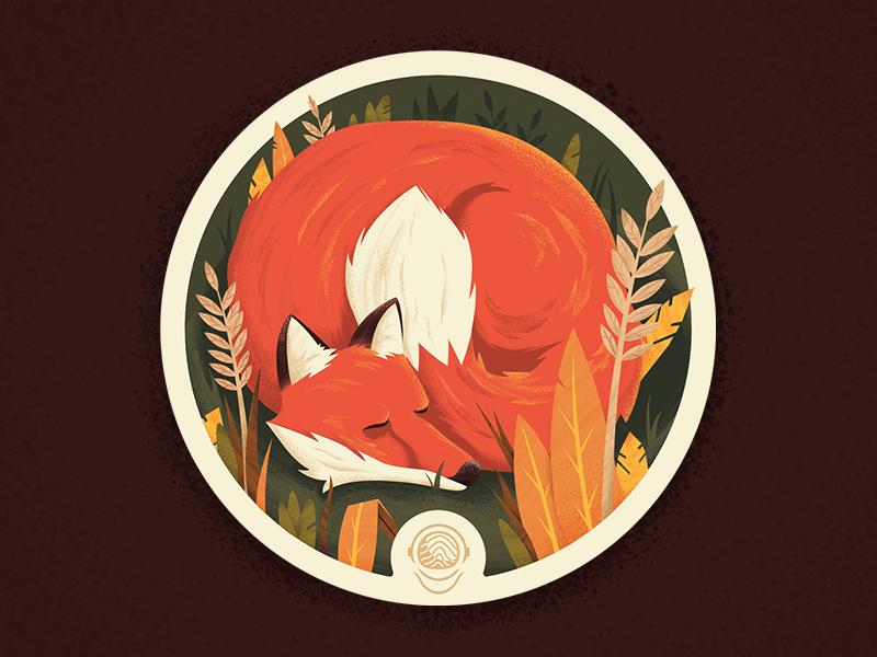 Fall Comfort plants autumn toponaut illustrator photoshop illustration coaster fall fox