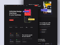 🔥 Amino Agency Exploration Landing page portfolio website agency website best design saas website project manager design website ux noansa web animation 2d agency dark principle animation clean ui