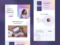 """Caramel"" Package Landing page exploration photography portfolio site page layout portfolio website transition motion web home website ui design clean noansa web gradient 2020 trend exploration landingpage portfolio design"