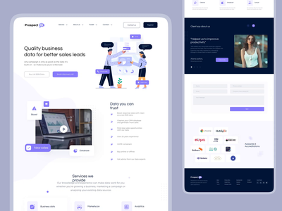 Prospectiq Website [Live] 😇 webdesign saas app saas design saas website vektora illustration web animation home website landingpage ui design ux clean saas landing page saas