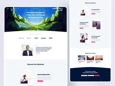Pexapark Website [Live] 🔥 revenue home page ux landingpage operating system buy manage sell sales design ui web homepage landing page energy solar