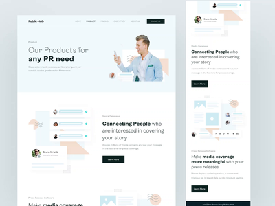 Public-Hub Landing Page UI KIT sign up sign in help center blog aboutus casestudy pricing theme product webpage webdesign signup page ui kit ux homepage landingpage web design ui clean