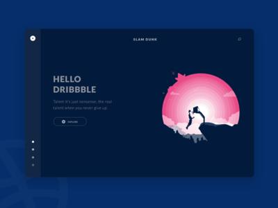 Hello Dribbble idea explore header illustration thanks shot invite first dribbble debuts