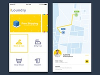 Laundry Apps Concept Yellow Rock