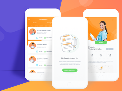 CareAsistant Health App Exploration ui smart search rent nurse house homecare home health doctor booking app