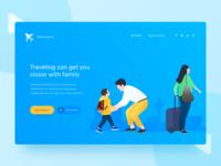 Traveling Landing Page