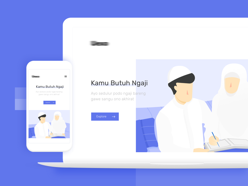 Landing Page Design for Moslem Platform