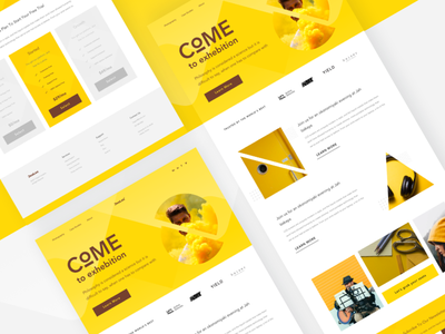Landing Page Concept typograhpy page ticket landing yellow header pricing design concept