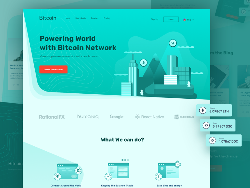 Bitcoin Concept Landing Page