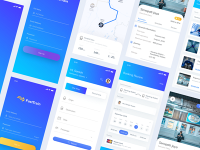 🚝 FastTrain - Mass Rapid Transit Webpage & Apps Exploration