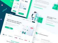 👍 Test DNA landing page redesign Concept