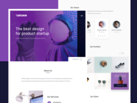 Digital Agency Landing Pages Design Exploration