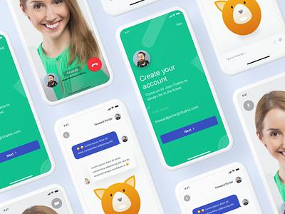 Chatrix Apps design account signin calling iphonex chat videocall clean illustration animoji future design app