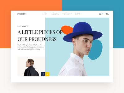 Header Minimalis Fashion Page hero banner model interaction single page shoping ux ecommerce typography layout fashion minimalist clean