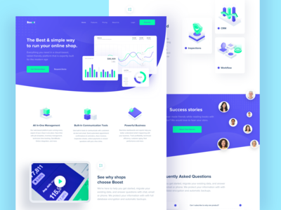 Boost Landing Page - CRM Marketing Platform