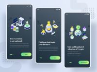 Cryptocurrency Business Isometric Kit Vol.01