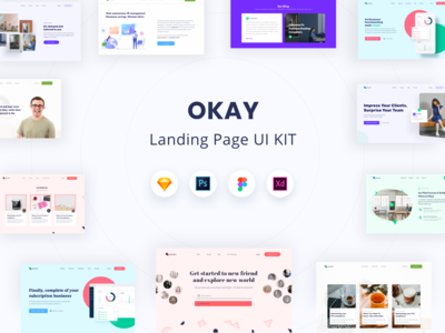 OKAY Landing Page UI KIT