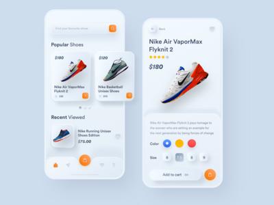Nike Shoes E-Commerce - Neumorphism
