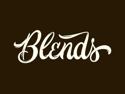 Blends Burger craft hot dog design typography burger brand lettering