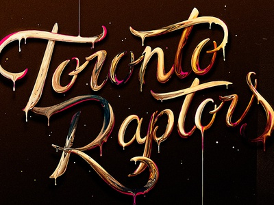 Toronto Raptors melt champion gold basketball raptors toronto nba logotype typography lettering